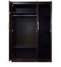 Yuina Three Door Wardrobe in Wenge Finish by Mintwud