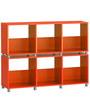 Yuma Cube Cabinet in Orange Colour by Mintwud