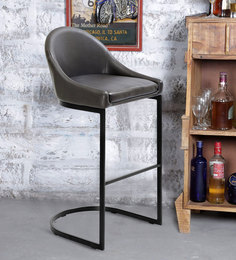 Zack Bar Chair In Dark Brown Colour By @ Home