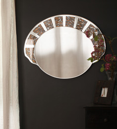 Zahab Multicolor Glass Arc Wall Mounted Decorative Mirror