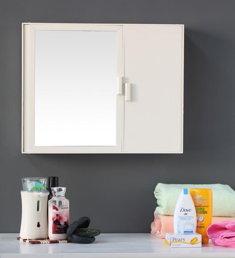 Buy zahab daina white acrylic bathroom cabinet online for Zahab bathroom cabinets