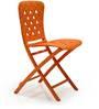 Nardi Zac Spring Folding Chair in Arancio Finish by Patios
