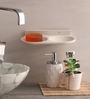 Zahab Fancy Cream Acrylic Double Soap Dish