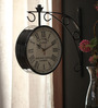 Abbadie Retro Wall Clock in Black by Amberville