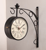 Aase Retro Wall Clock in Black by Amberville