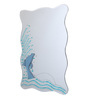 Askern Bath Mirror in Blue by Amberville