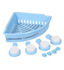 ZAHAB PLASTIC MULTI FUNCTIONAL CORNER SHELF WITH SUCTION CUP