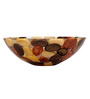 Zahab Brown Resin Round Wash Basin