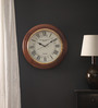 Aarvold Retro Wall Clock in Brown by Amberville