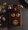 Aboud Retro Telephone in Brown by Amberville