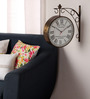 Abbotshall Retro Wall Clock in Copper by Amberville