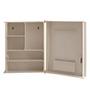 Zahab Cream Acrylic Cabinet with Mirror