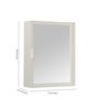 Zahab Delux White Acrylic Bathroom Cabinet