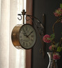 Aase Retro Wall Clock in Gold by Amberville