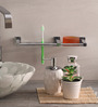 Zahab Silver Stainless Steel Bathroom Accessories - Set of 2