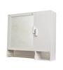 Zahab White Mini Daina White Acrylic Bathroom Cabinet with Towel Rod