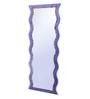 Zahab Purple Glass Stone Wall Mounted Decorative Mirror
