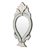 Abelsson Decorative Mirror in Silver by Amberville