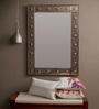 Jacinto Decorative Mirror in Silver by CasaCraft