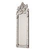 Abel Decorative Mirror in Silver by Amberville