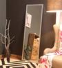 Zahab Silver MDF Decorative Standing Mirror