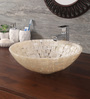Zahab Tikda Round Pearl White Resin Wash Basin (Model: T25-04)