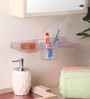 Zahab Transparent ABS Toothbrush Holder