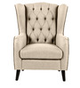 Zaletha Wingback Chair in Dark Beige Colour by Madesos