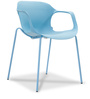 Zane Stackable Chair in Blue Colour by Durian