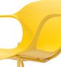 Zane Stackable Chair in Yellow Colour by Durian