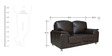 Zest Leatherette (3 + 2 + 2) Seater Sofa Set in Black Colour by Crystal Furnitech