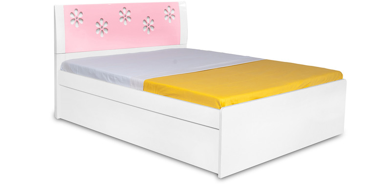 Zest Single Bed in Pink & White Colour by Alex Daisy