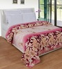 Zesture Bring Home Purple Polyester Floral 90 x 90 Inch Double Bed Blanket