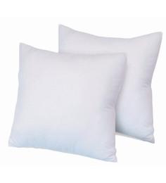 Zikrak Exim White Polyester 12 X 12 Inch Cushion Inserts - Set Of 2