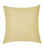 Zikrak Exim Beige Polyester 16 x 16 Inch Square Quilting Cushion Cover