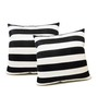 Zikrak Exim Black Polyester 16 x 16 Inch Cushion Covers - Set of 2