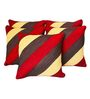 Zikrak Exim Multicolor Polyester 16 x 16 Inch Cushion Covers - Set of 5