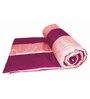 Zikrak Exim Purple Polyester Striped King Quilt