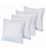 Zikrak Exim White Polyester 12 x 12 Inch Cushion Inserts - Set of 4