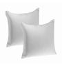 Zikrak Exim White Polyester 16 x 16 Inch Non Woven Cushion Inserts - Set of 2