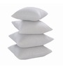 Zikrak Exim White Polyester 16 x 16 Inch Non Woven Cushion Inserts - Set of 4