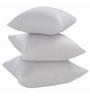 Zikrak Exim White Polyester 20 x 20 Inch Floor Cushion Inserts - Set of 3