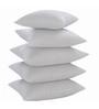 Zikrak Exim White Polyester 20 x 20 Inch Floor Cushion Inserts - Set of 5