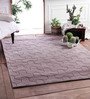 Zila Home Brown Wool Knitted Area Rug
