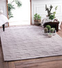 Zila Home Grey Wool Knitted Area Rug