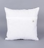 Zila Home White & Black Cotton 16 x 16 Inch Horse Cushion Cover