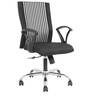 Zinion Medium Back Office Chair in Black Colour by The Furniture Store