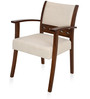 Zinnia Arm Chair in Beige Colour by @ Home