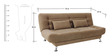 Zuri supersoft Sofa bed in Light Brown colour by Furny