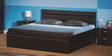 Zurina King Bed with Storage in Wenge Colour by Godrej Interio